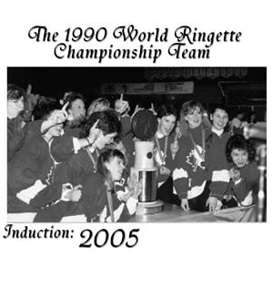The 1990 World Ringette Championship Team